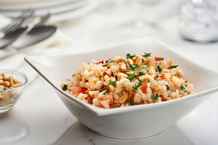 Tomato Pine Nuts Risotto Scaled