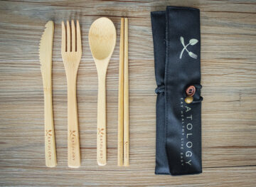 wooden cutlery for healthy diet